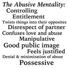 Signs of domestic verbal abuse