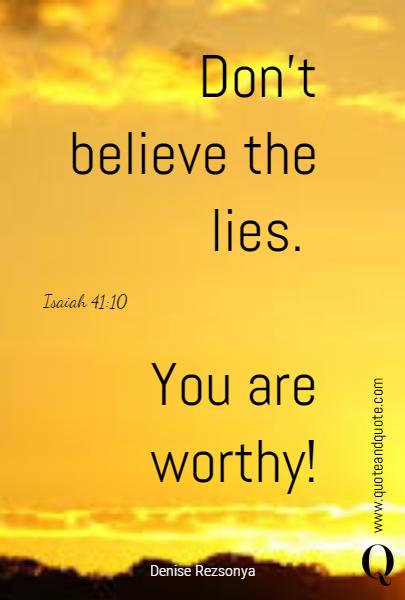 Lies Victims Believe